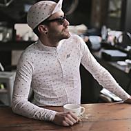 Χαμηλού Κόστους Autum-Winter Collection-Mysenlan Ανδρικά Μακρυμάνικο Φανέλα ποδηλασίας - Λευκό Πουά Ποδήλατο Αθλητική μπλούζα Πολυεστέρας Ταφτάς / Μικροελαστικό / Εισαγόμενο ύφασμα Ιταλίας / Αγωνιστικά / Κατάλληλο για αγώνες