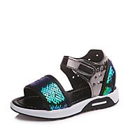 baratos Sapatos de Menina-Para Meninas Sapatos Couro Ecológico Verão Conforto Sandálias Caminhada Lantejoulas / Velcro para Infantil Azul / Rosa claro