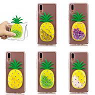 billiga Mobil cases & Skärmskydd-fodral Till Huawei P20 Pro / P10 Flytande vätska Skal Glittrig / Frukt Mjukt TPU för Huawei P20 / Huawei P20 Pro / Huawei P20 lite / P10 Plus / P10 Lite