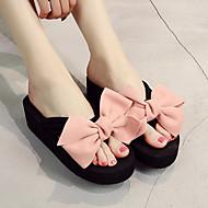 cheap -Women's Shoes Fabric Summer Comfort Slippers & Flip-Flops Creepers Open Toe Bowknot Wine / Light Pink / Khaki