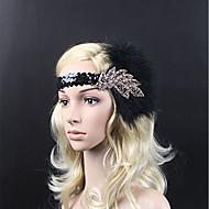 Grande Gatsby Vintage Stile anni '20 Costume Per donna Fascia per capelli da ballerina charleston Cappelli Nero Vintage Cosplay Feste Graduazione