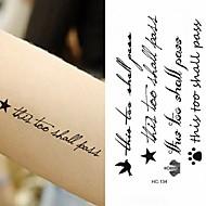 billiga Temporära tatueringar-10pcs Klistermärke meddelande Tatueringsklistermärken