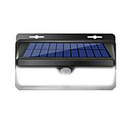 billige Utendørs Lampeskjermer-1pc 4.5W Wall Light Fjernstyrt Solar Infrarød sensor Vanntett Lysstyring Hvit 3.7V Have Courtyard Svømmebasseng Utendørsbelysning
