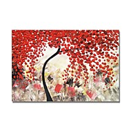 billige -Hang malte oljemaleri Håndmalte - Abstrakt / Blomstret / Botanisk Moderne Lerret