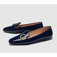cheap Women's Slip-Ons & Loafers-Women's Shoes Patent Leather Spring Comfort Loafers & Slip-Ons Flat Heel White / Black / Blue