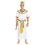 Egyiptomi kosztümök Jelmez Férfi Mindszentek napja Karácsony Mindszentek napja Farsang Fesztivál / ünnepek Polyster ruhák Fehér Egyszínű Csíkos Mindszentek napja