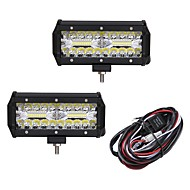 cheap 70%OFF-2pcs Car Light Bulbs 120W Integrated LED 12000lm 40 LED Exterior Lights For universal 2018