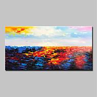 billiga Abstrakta målningar-Hang målad oljemålning HANDMÅLAD - Abstrakt / Landskap Moderna Duk