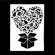baratos Moldes para Bolos-Ferramentas bakeware Plástico Férias / Gadget de Cozinha Criativa / Dia dos namorados Para utensílios de cozinha Rectângular Ferramentas de Sobremesa 1pç