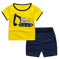 Børn / Baby Drenge Farveblok Kortærmet Tøjsæt