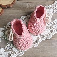 baratos Sapatos de Menina-Para Meninas Sapatos Tricô Outono Conforto Tênis Pérolas Sintéticas para Amarelo / Azul / Rosa claro