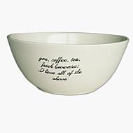 cheap Dinnerware-1 pc Porcelain Heatproof / Creative Dining Bowl, Dinnerware