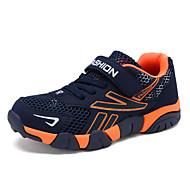 baratos Sapatos de Menino-Para Meninos Sapatos Arrastão / Tule Primavera Verão Solados com Luzes Tênis Vazados / Velcro para Azul Escuro / Laranja e Preto