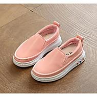baratos Sapatos de Menina-Para Meninas Sapatos Couro Ecológico Primavera Conforto Mocassins e Slip-Ons para Branco / Preto / Rosa claro