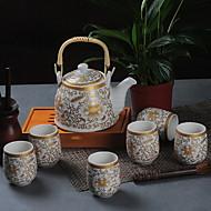 billige Kaffe og te-7 stk Porselen Tekannesett Varmebestandig ,  10*17.3;7.5*6cm