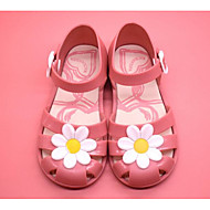 tanie Obuwie dziewczęce-Dla dziewczynek Obuwie Polichlorek winylu Lato Wygoda / Buty gumowe Sandały na Czarny / Fuksja / Różowy