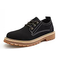 お買い得  メンズオックスフォードシューズ-男性用 靴 ヌバックレザー 秋 コンフォートシューズ オックスフォードシューズ ブラック / グレー / Brown