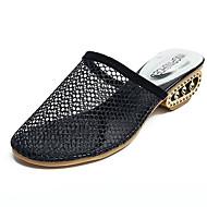 preiswerte -Damen Schuhe PU Sommer Komfort / Fersenriemen Cloggs & Pantoletten Blockabsatz Gold / Schwarz