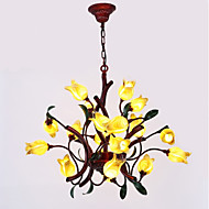 cheap Chandeliers-Oulm Candle-style Chandelier Ambient Light - New Design, Creative, 110-120V / 220-240V, Yellow, Bulb Included / G4 / 15-20㎡ / VDE