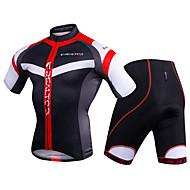Homens Manga Curta Camisa com Shorts para Ciclismo - Preto / Vermelho / Azul / branco Moto Conjuntos de Roupas, Tapete 3D Poliéster /
