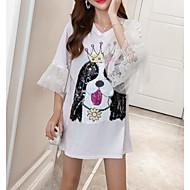 t-shirt feminina - colorido sólido / animal em volta do pescoço