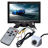 billiga Parkeringskamera för bil-ZIQIAO 7inch TFT-LCD CCD Kabel 170 grader Bil baksidesats Vattentät / Multifunktionell display / LCD-skärm för Bilar
