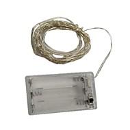 billiga Belysning-6m Ljusslingor 60 lysdioder SMD 0603 Varmvit / Multifärg Dekorativ AA Batterier Drivs 1st / IP44