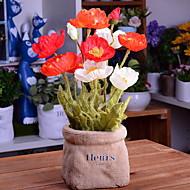billige Kunstig Blomst-Kunstige blomster 1 Afdeling Stilfuld Poppy Bordblomst