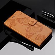 billiga Mobil cases & Skärmskydd-fodral Till Motorola MOTO G6 / Moto G6 Plus Plånbok / Korthållare / med stativ Fodral Fjäril Hårt PU läder för Moto Z Force / Moto X Style / MOTO G6