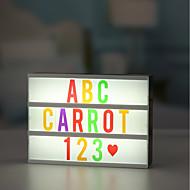 voordelige Verlichting-1set lichtbak Letter Light Box Kleurrijk USB Verstelbaar inklusive USB-Kabel met Letters Cards DIY Gratis combinatie Decoratie 5V