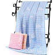 Χαμηλού Κόστους Πετσέτα μπάνιου-Ανώτερη ποιότητα Πετσέτα μπάνιου, Καρό / Τετραγωνισμένο / Κινούμενα σχέδια Πολυ / Βαμβάκι 1 pcs