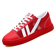Žene Cipele Til / PU Ljeto Udobne cipele Sneakers Ravna potpetica Okrugli Toe Obala / Crn / Crvena