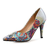 baratos Sapatos Femininos-Mulheres Sapatos Seda Primavera Verão Plataforma Básica Saltos Salto Agulha Branco / Azul / Casamento / Festas & Noite / Festas & Noite