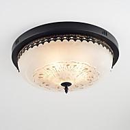 billige Taklamper-4-Light Takplafond Omgivelseslys Malte Finishes Metall Glass Øyebeskyttelse 110-120V / 220-240V Pære ikke Inkludert / E26 / E27