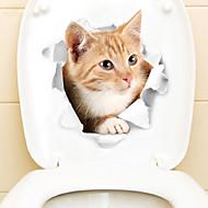 Samolepky na ledničku Samolepky na toaletu - Zvířecí nálepky na zeď Zvířata 3D Obývací pokoj Ložnice Koupelna Kuchyň Jídelna studovna či