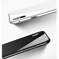 billiga Mobil cases & Skärmskydd-fodral Till Apple iPhone X / iPhone 8 / iPhone 8 Plus Stötsäker / Magnet Skal Enfärgad Hårt Härdat glas / Aluminium för iPhone X / iPhone