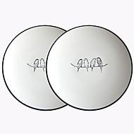 cheap Dinnerware-2pcs Porcelain Creative Dinner Plate, Dinnerware