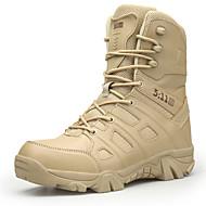 baratos Sapatos Masculinos-Homens Sapatos Confortáveis Tule / Couro Ecológico Outono Botas Aventura / Caminhada Botas Curtas / Ankle Preto / Khaki