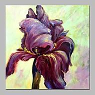 billiga Blom-/växtmålningar-Hang målad oljemålning HANDMÅLAD - Abstrakt / Blommig / Botanisk Klassisk Duk
