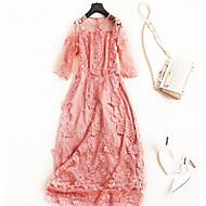Dame Vintage / Gade A-linje / Swing Kjole - Ensfarvet Maxi