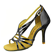 baratos Sapatilhas de Dança-Mulheres Sapatos de Dança Latina / Sapatos de Salsa Couro Ecológico Sandália / Salto Presilha / Cadarço de Borracha Salto Personalizado Personalizável Sapatos de Dança Prateado / Azul / Dourado