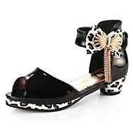 baratos Sapatos de Menina-Para Meninas Sapatos Couro Ecológico Primavera Verão Salto minúsculos para Adolescentes Saltos Laço para Infantil Roxo / Roxo Claro /