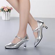Dame Moderne dansesko Læder Hæle Personligt tilpassede hæle Kan tilpasses Dansesko Guld / Sølv / Ydeevne