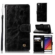 billiga Mobil cases & Skärmskydd-fodral Till Xiaomi Mi 5s Plånbok / Korthållare / med stativ Fodral Enfärgad Hårt PU läder för Xiaomi Mi 5s
