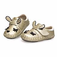 baratos Sapatos de Menino-Para Meninos / Para Meninas Sapatos Pele Primavera Primeiros Passos para Bébé Dourado / Vermelho