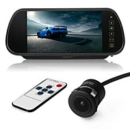 billiga Parkeringskamera för bil-ziqiao 7 tums färg tft lcd bil backspegel skärm och ccd hd vattentät bil bakifrån kamera