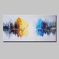 billiga Abstrakta målningar-Hang målad oljemålning HANDMÅLAD - Abstrakt Landskap Moderna Inkludera innerram / Sträckt kanfas