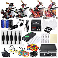 abordables Tatouage, Body Art-DRAGONHAWK Machine à tatouer Kit de tatouage professionnel - 4 pcs Machines de tatouage, Niveau professionnel / Tout en un / Facile à installer Alliage LCD alimentation Boîtier Inclus 4 machine x
