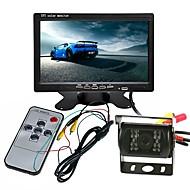 billiga Parkeringskamera för bil-ZIQIAO 7inch TFT-LCD CCD Kabel 120 grader Bil baksidesats Vattentät / Multifunktionell display / LCD-skärm för Truck / Buss / Bilar