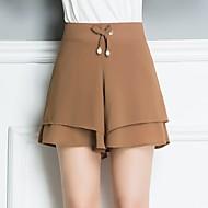 Pentru femei De Bază / Șic Stradă Zvelt Pantaloni Scurți Pantaloni - Mată Talie Înaltă Roșu-aprins